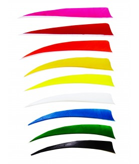 "Trueflight - Plume naturelle Shield 5"" Solid"